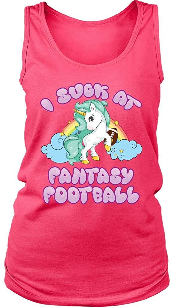 Teelaunch VnSupertramp I Suck at Fantasy Football Women Tank Top Shirt Plus Size XL-4XL