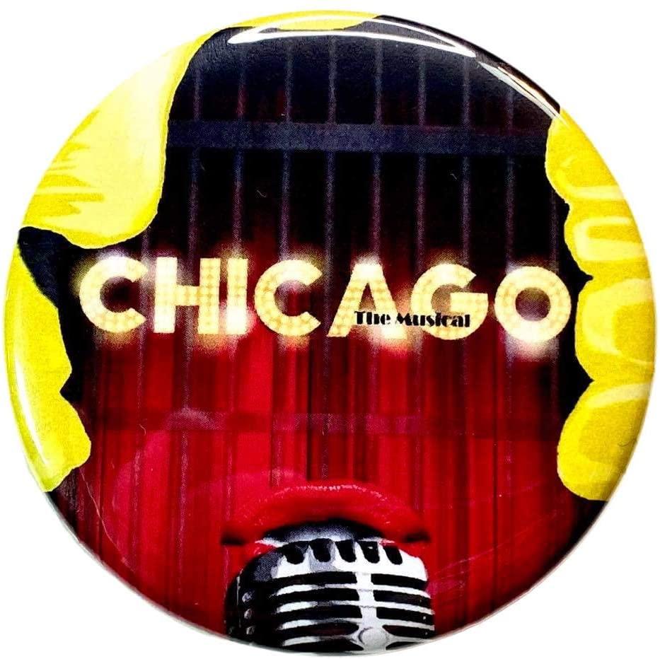Fandom Emporium Chicago Broadway Musical Theatre Drama Theater Performance Keychain Ornament Button - Button