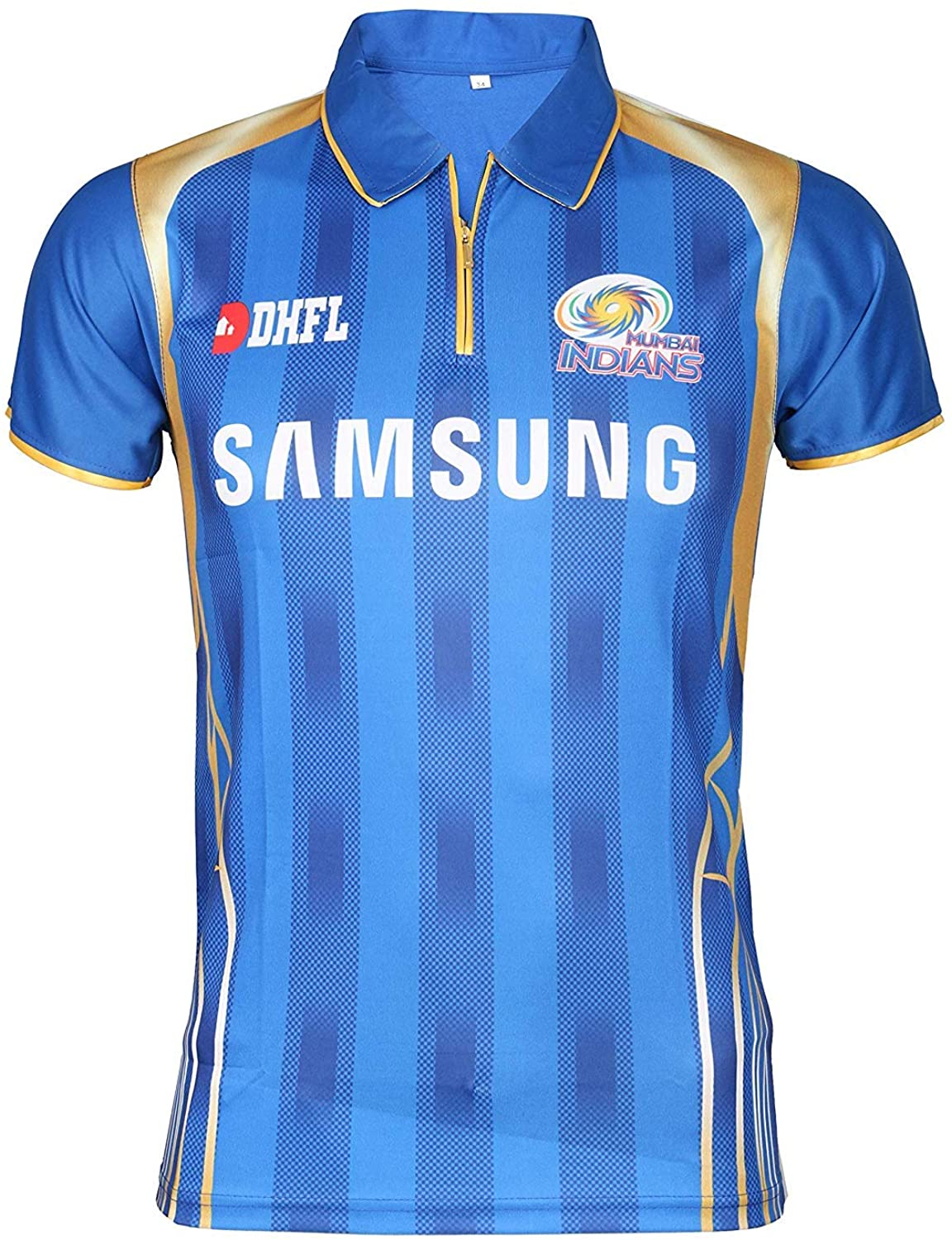 KD Cricket IPL Custom Jersey Supporter Jersey T-Shirt 2020 with Your Choice Name and Number Print (MI,36)