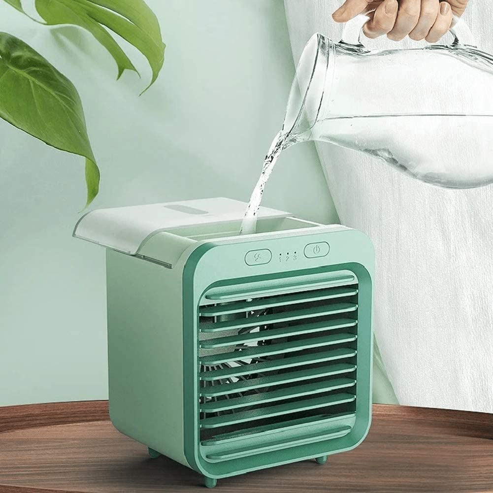 FUHAO Air Conditioner Fan, Rechargeable Water-Cooled Air Conditioner, Desktop Cooling Fan Air Cooler Mini Air Purifier for Summer Home New