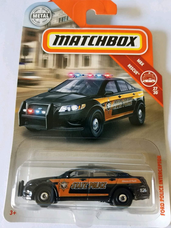 Matchbox 2018 MBX Rescue 27/30 - Ford Police Interceptor