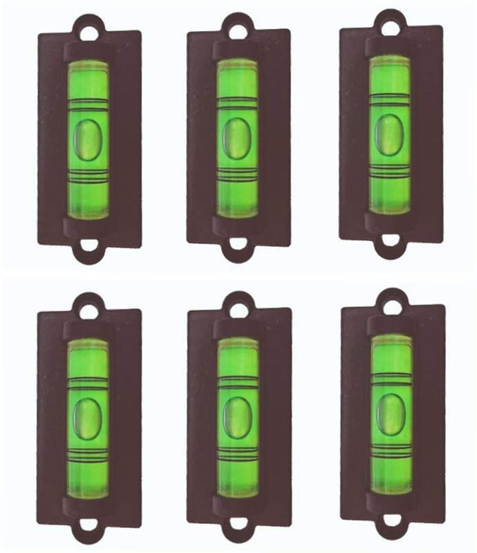 6x Standard Levels Bubble Spirit Level Use for RV, Travel Trailer, Camper, Tripod, Phonograph, Turntable