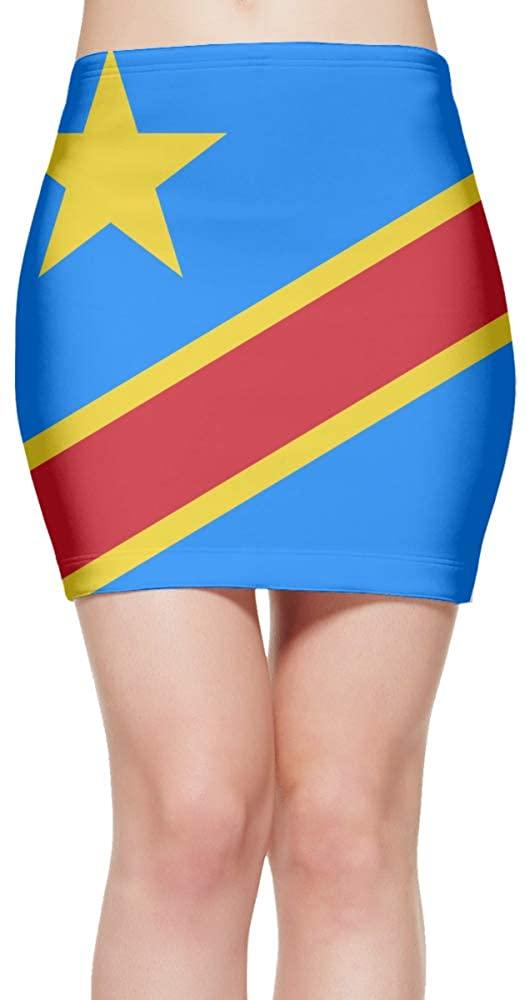 ChunLei Tight Mini Skirt Congo Flag Women's High Waist Short Skirt