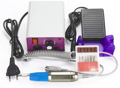 Pro Nail Tools 25000 RPM Electric Nail Drill Machine Manicure Drills Accessory Acrylic Nail Drill File Drill Bits Pedicure Kit - (Color: 220V EU plug)