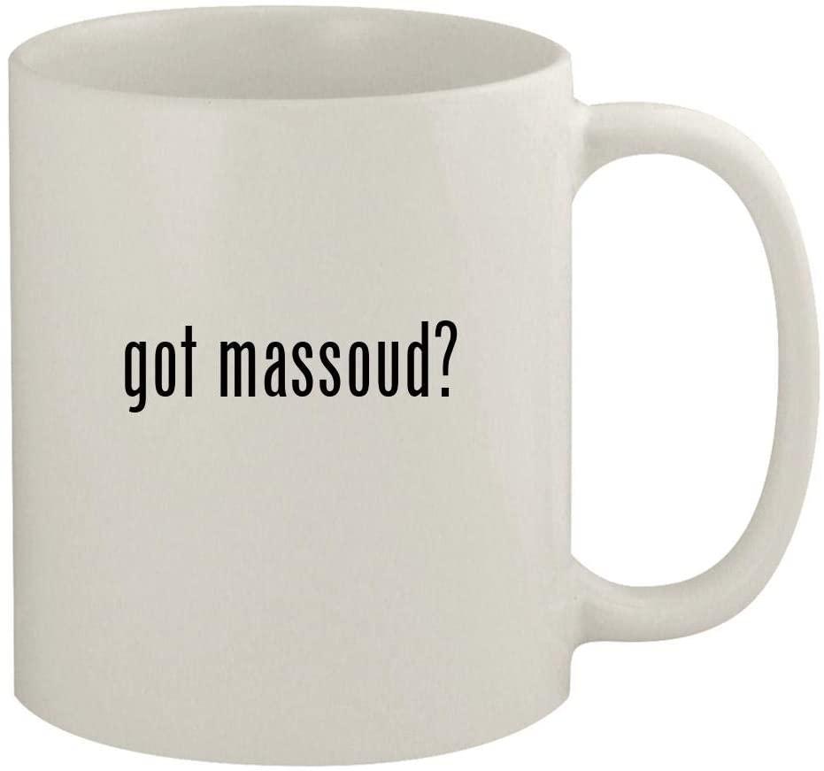 got massoud? - 11oz Ceramic White Coffee Mug, White