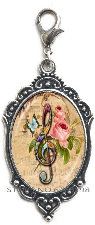 Music Note Zipper Pull Clef Zipper Pull Note Charm Musical Jewelry Piano Teacher Gift Charm,Handmade Zipper Pull,N202