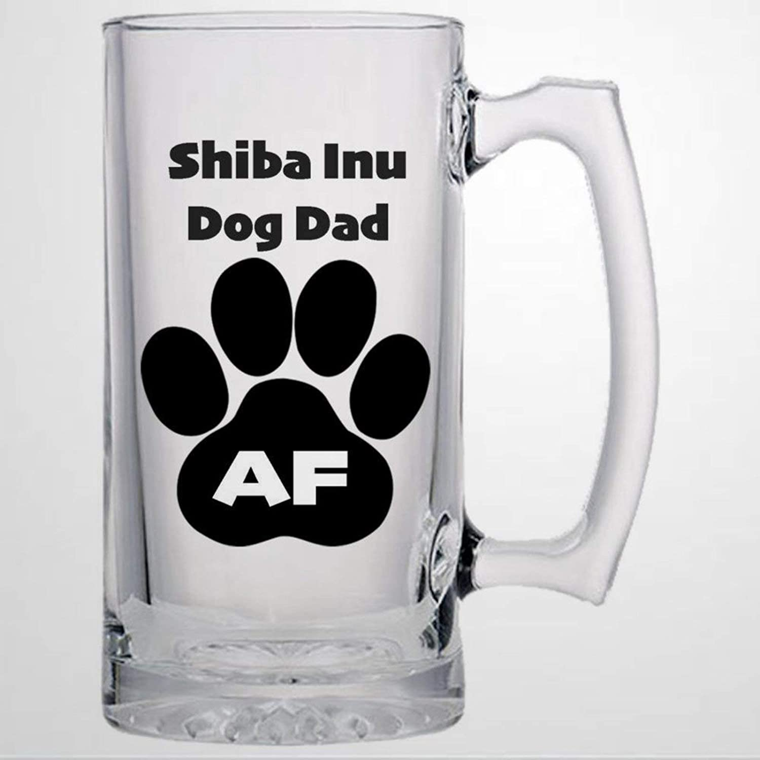 Pint Beer Glasses Stein 16oz, Shiba Inu Dog Mug, Beer Lover Present for Men, Dog Memorial Present, Personalized Beer Mug Clear Drinking Mug for Bar Party Dining