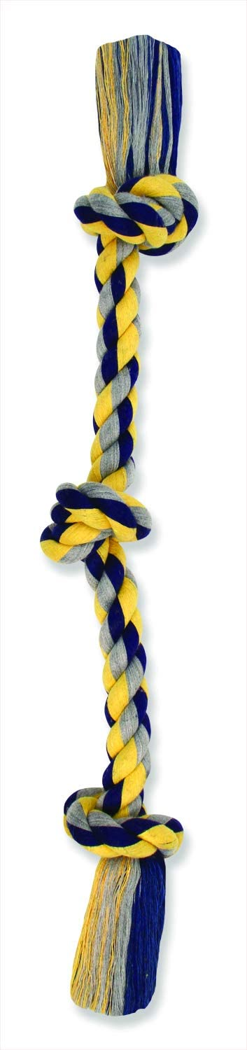 Mammoth Flossy Chews Color Rope Tug – Premium Cotton-Poly Tug Toy for Dogs
