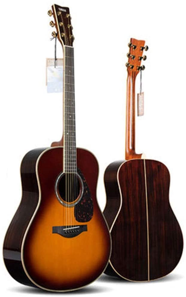 Guitars & Fretted Instruments Guitar Electric Guitar Yamaha LL16BS are Folk Board Electric Box Beginner Student Men and Women 41 Inch Guitars (Color : Sunset Color, Size : 1304012cm)