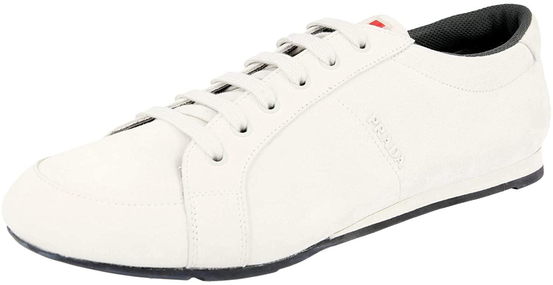 Prada Mens 4E3234 054 F0K74 Leather Sneaker