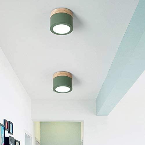 LXRH 7 w moderno Macaroon LED Downlight superficie montada lámparas de techo AC85-260V Punto de luz para sala de Estar dormitorio pasillo BL556 (Color : 3000K, Size : Gris Oscuro)