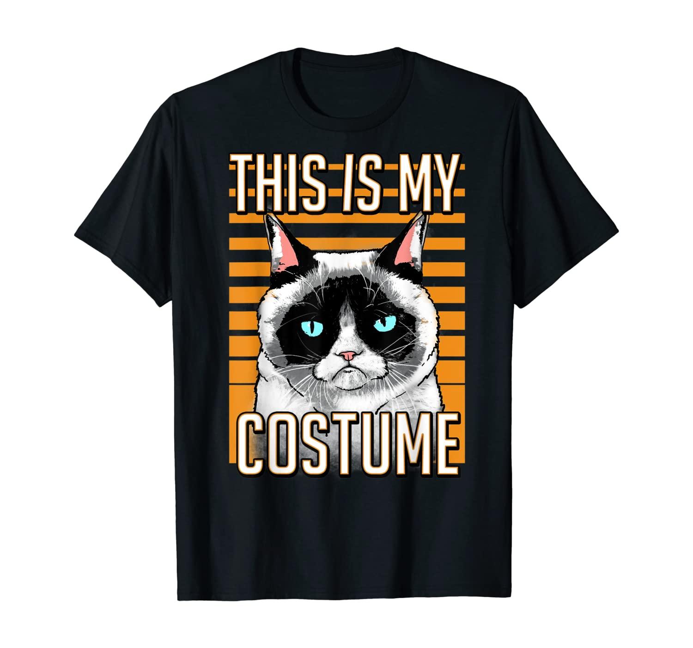 Grumpy Cat Halloween This Is My Costume Graphic T-Shirt
