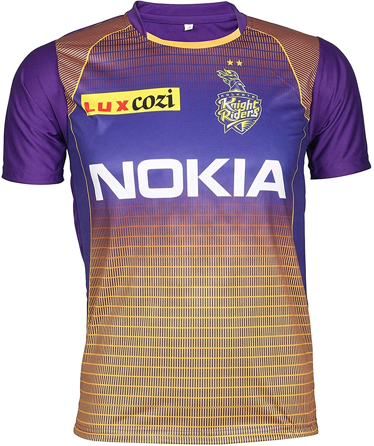 KD Cricket IPL Custom Jersey Supporter Jersey T-Shirt 2020 with Your Choice Name and Number Print (KKR,34)