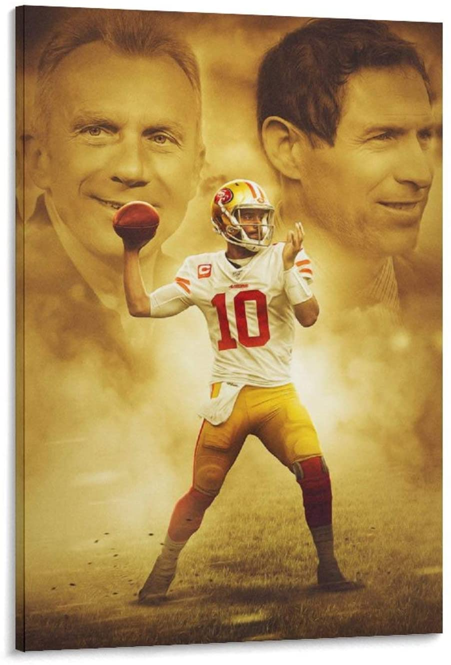 baoqing San Francisco 49ers - Jimmy Garoppolo Star Poster 3 Canvas Art Poster and Wall Art Picture Print Modern Family Bedroom Decor Posters 12x18inch(30x45cm)
