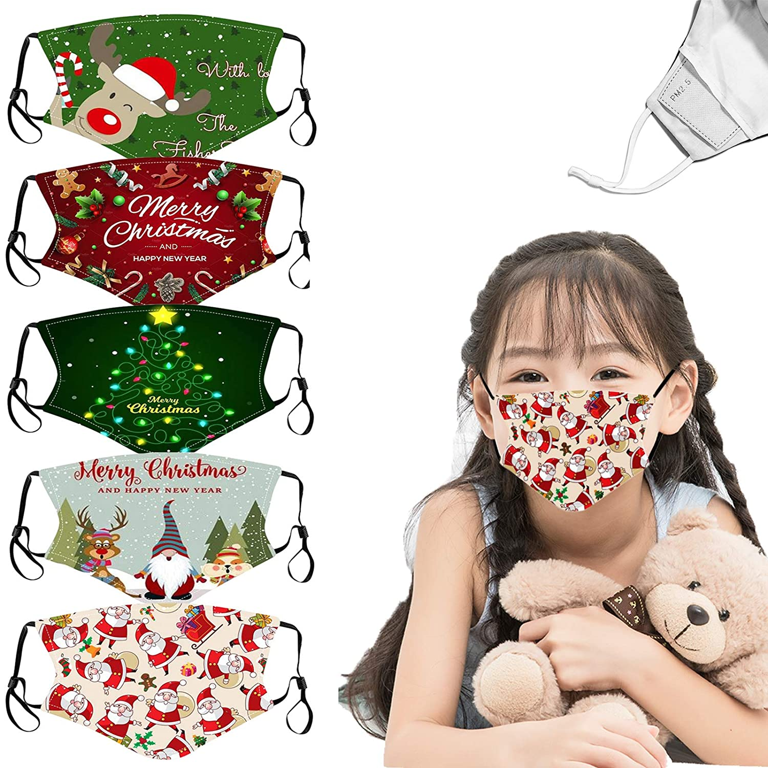 Christmas Child Reusable Breathable Headscarf For children