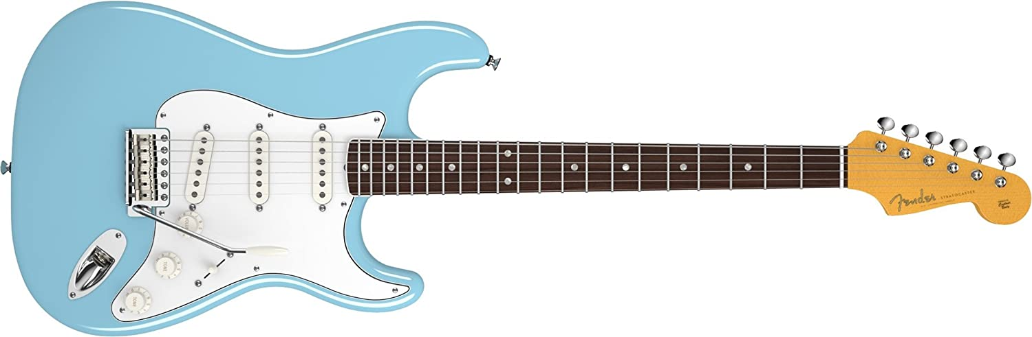 Fender Eric Johnson Stratocaster Rosewood Electric Guitar, Tropical Turquoise, Rosewood Fretboard