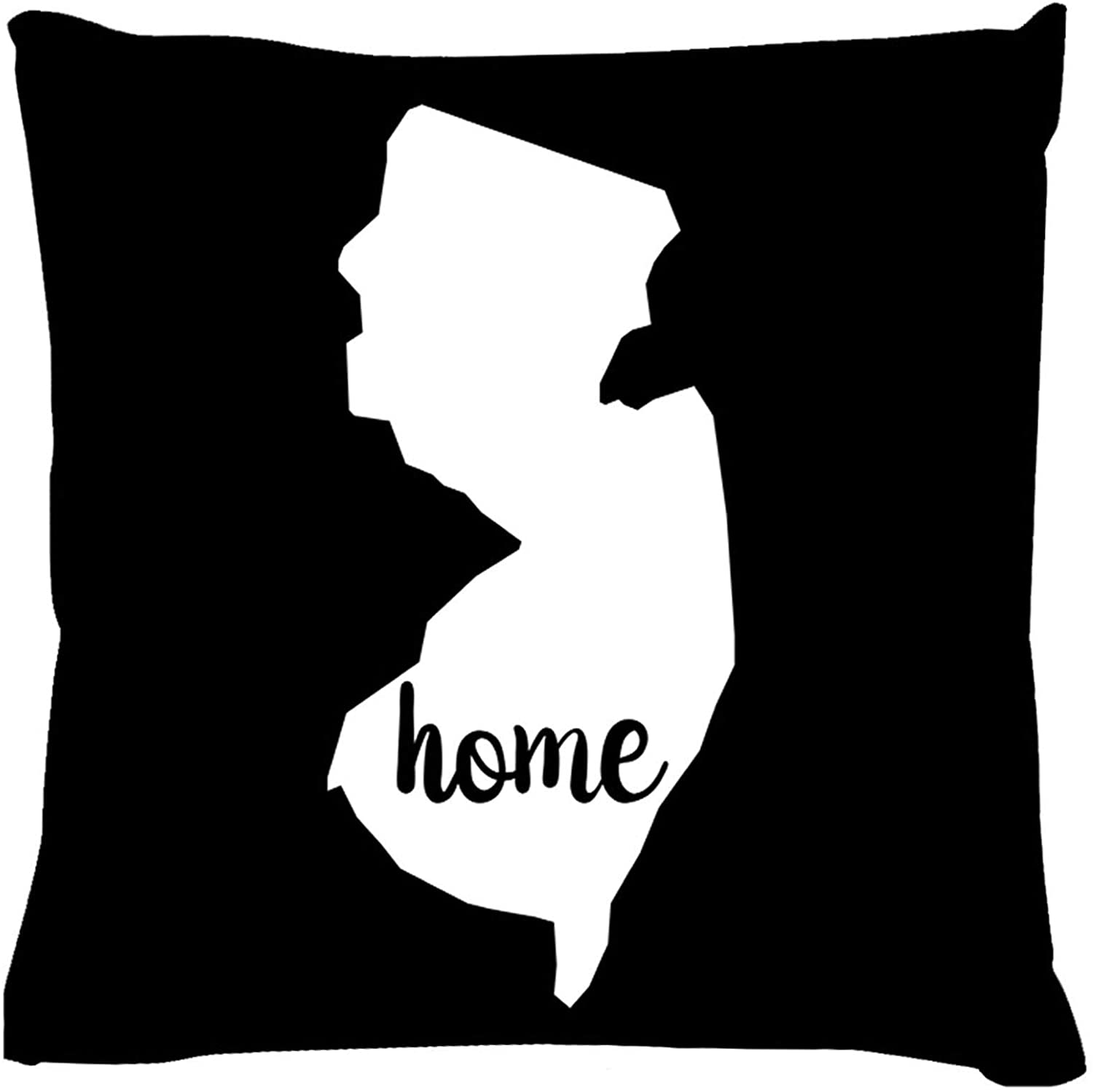 Artswow Throw Pillow Cover Ultra Soft Cushion Case Home Office Decorative Pillowcovers for Bed Sofa 18x18 Inches - New Jersey