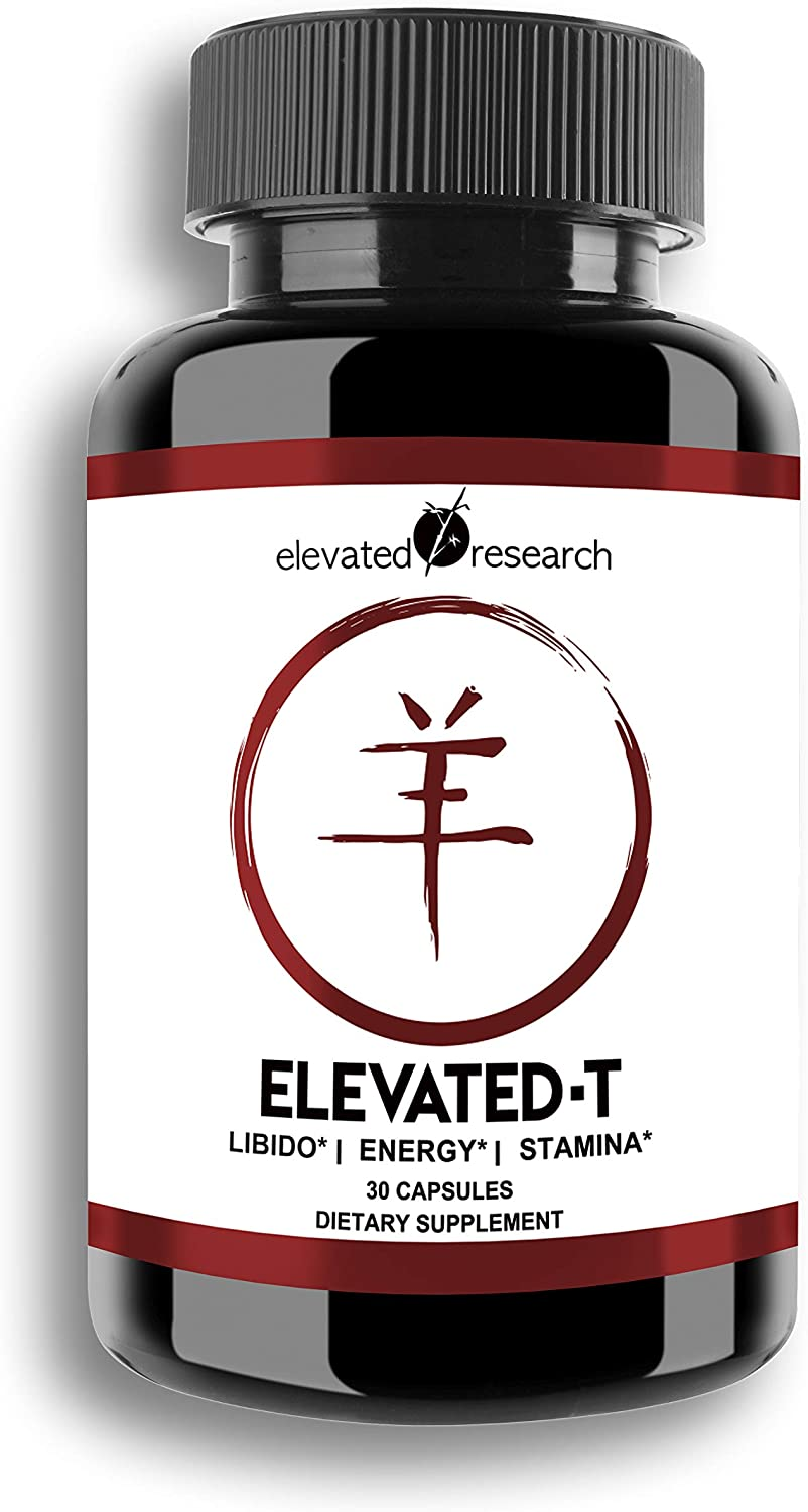 Elevated-T: Test Booster with DHEA, Promotes Youthful Energy, Metabolism and Libido Health, Lean Muscle Mass, Faster Recovery Time, Thyroid Health, Adrenal Support- For Men and Women