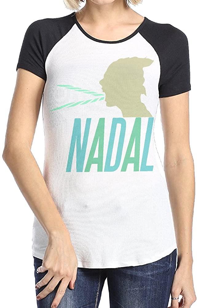 Rafael Nadal Female's Short Sleeve Raglan T-shirt For Woman