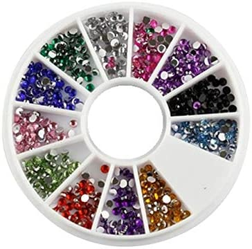 DalaB DIY Crafts Decors Tips Glitters Rhinestones Slice Super Glitter Crystal Sewing Fabric gament Rhinestone Nail Art Stone - (Color: Round)