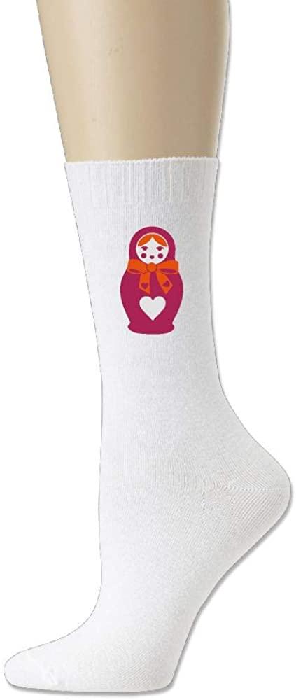 Unisex Russian Doll Cotton Crew Socks Casual Stocking For Men Women