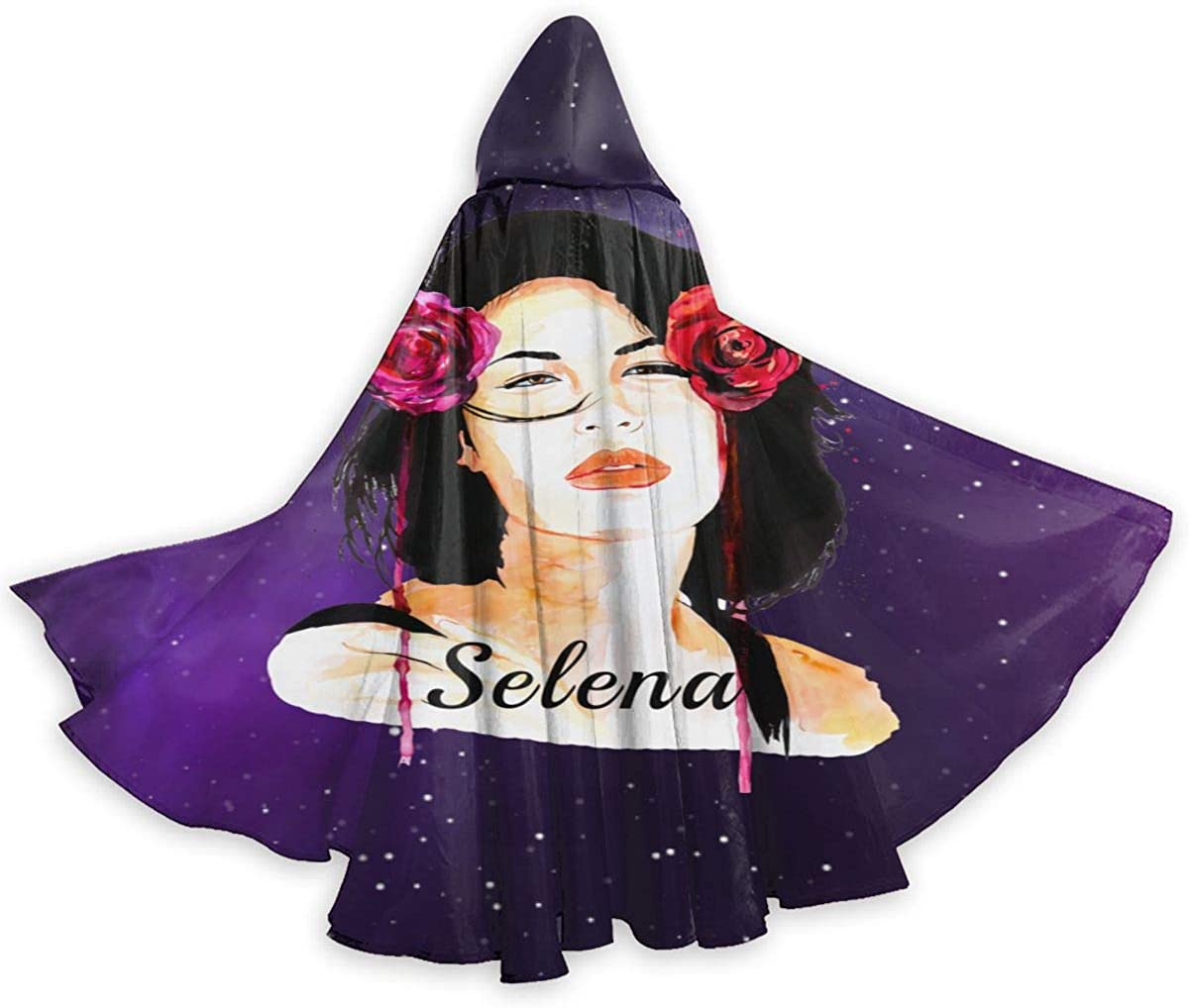 Shxjdthafa Selena Quintanilla Youth Adult Womens Men Unisex Costumes Capes Cloak with Hood for Halloween Party