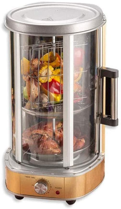 HWZQHJY Electric Rotisserie Grill for Kebabs, Automatic Rotating Smokeless barbecue?Vertical Electric Oven, 1500 W