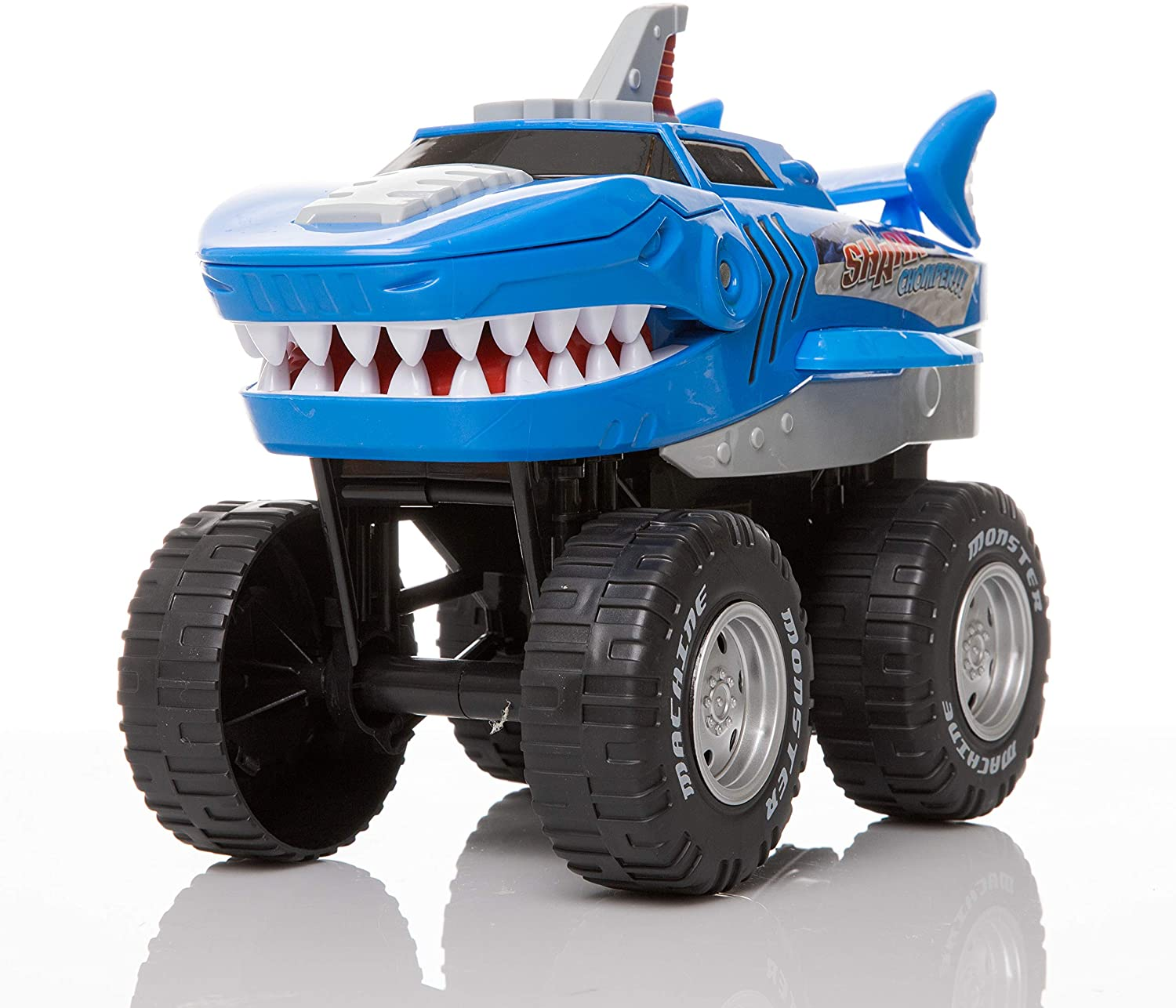 Rugged Racers Monster Trucks for Boys and Girls – Toy Monster Trucks – Shark – Battery Operated Mouth Opening Design – Revving Engine with Sounds and Lights