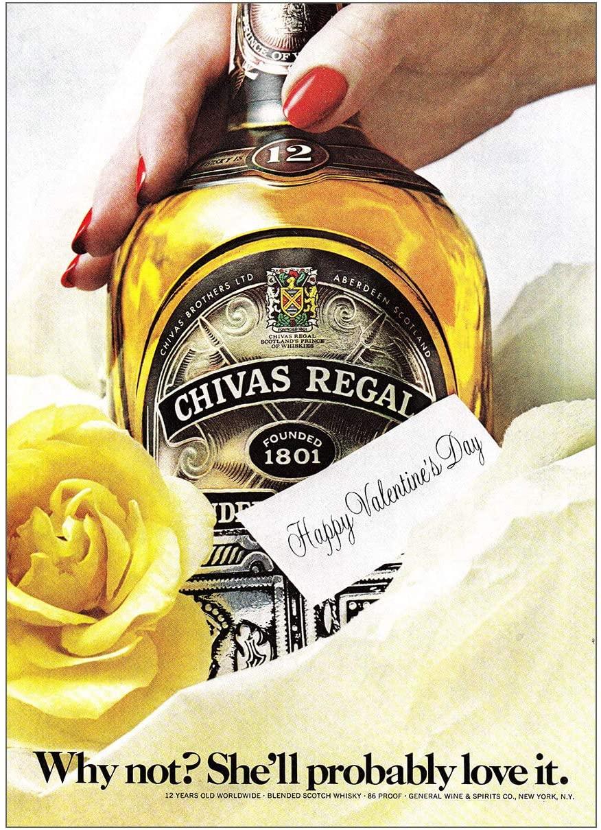 1979 Chivas Regal: Happy Valentines Day, Chivas Print Ad