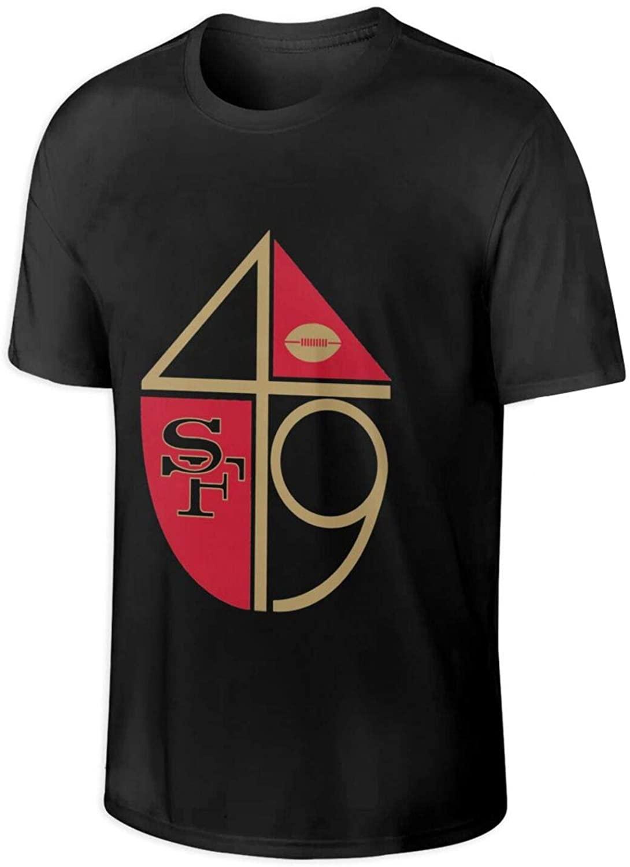 S-an Fr-ANC-ISCO 49e-Rs Mens T-Shirt Short Sleeve Cotton