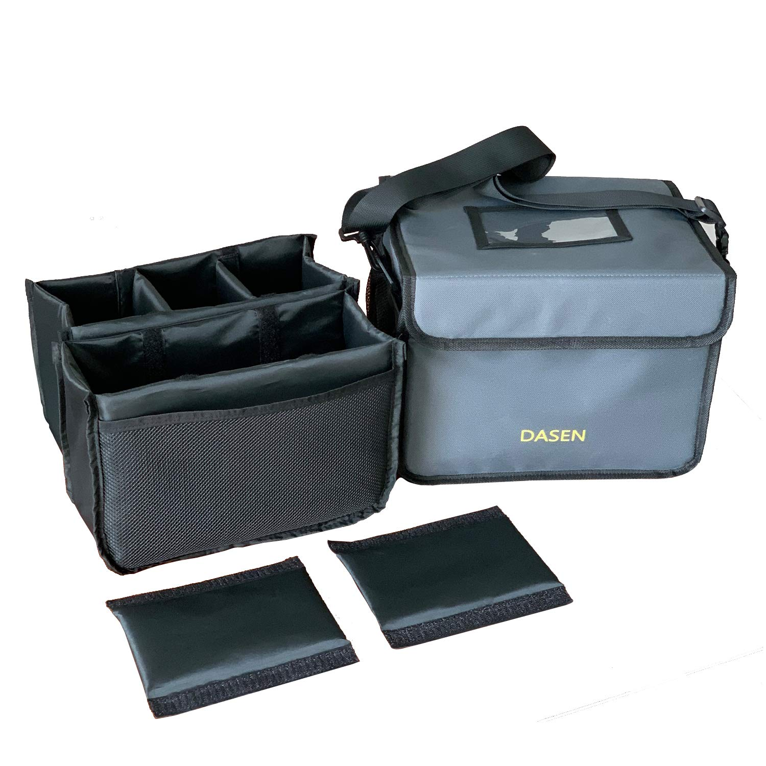 Insulated Drink Delivery Cup Carrier, Portable Cooler Bag, Food Delivery Take Out Containers, Reusable Coffee Cup Holder Hot Cold Beverages Insulated Bag Small Pizza Food Dish Transport with Dividers