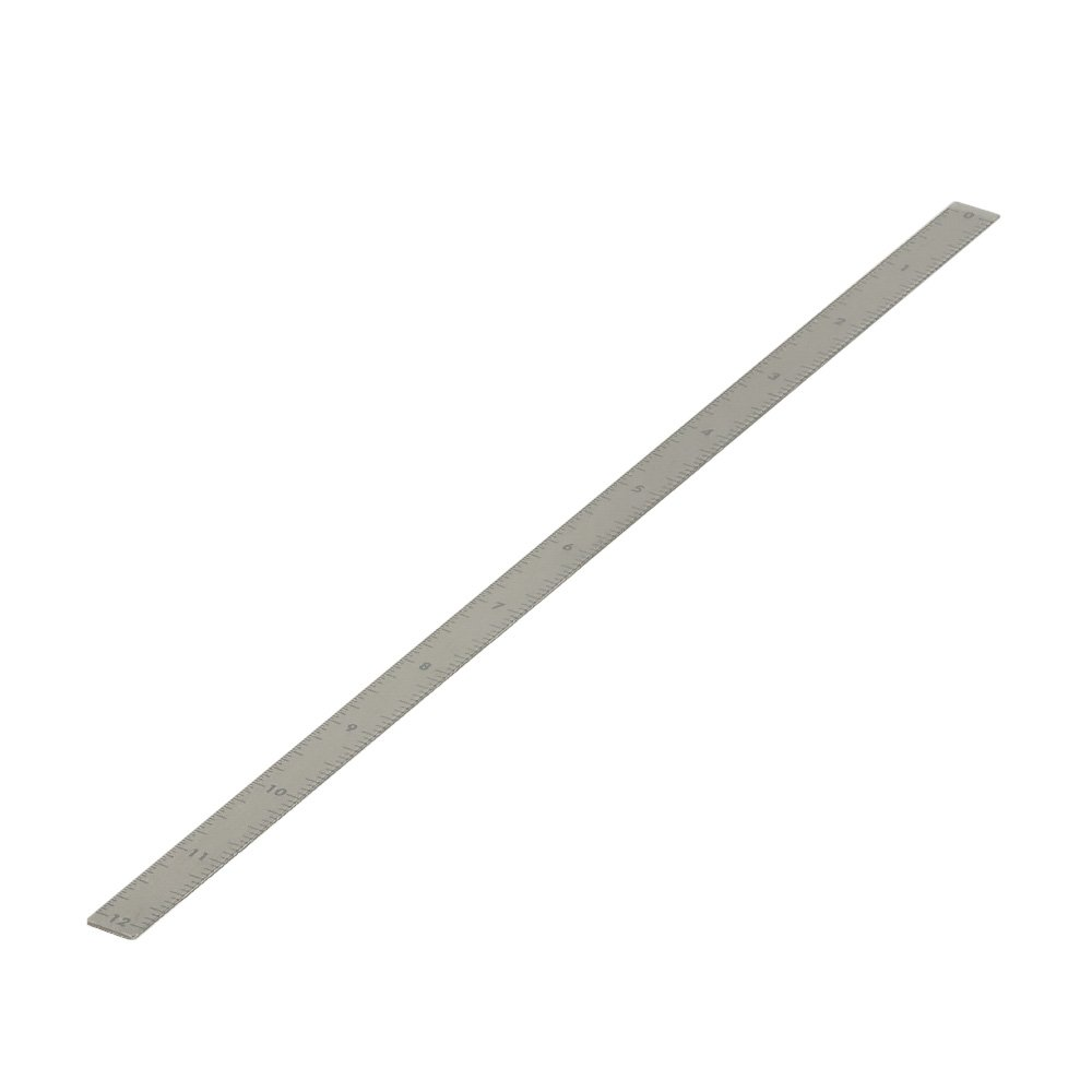 J.W. Winco 711-NI-12.00-S-O Stainless Steel Adhesive Backed Ruler - 7/16