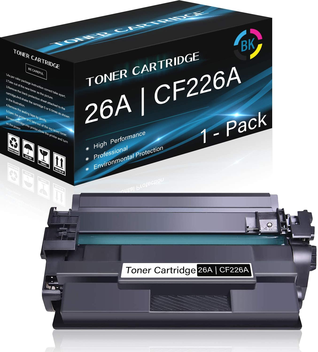 1 Pack 26A   CF226A (Black) Compatible High Yield Toner Cartridge Replacement for HP Laserjet M402d M402n M402dn M402dw M402m M402dne M426dw M426fdn M426fdw M426m Printers,Sold by Thurink.