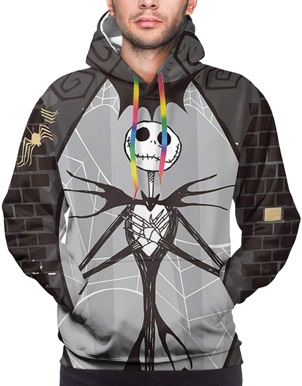 Zhencai The Nightmare Before Christmas Hoodie Sweatshirts 3D Printed Long Sleeve Pullover Sweatshirt Jacke