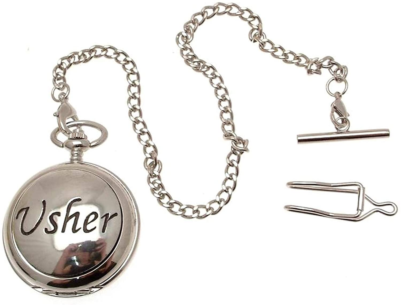 Pocket Watch - Solid Pewter Fronted Mechanical Skeleton Pocket Watch - Usher Design 48