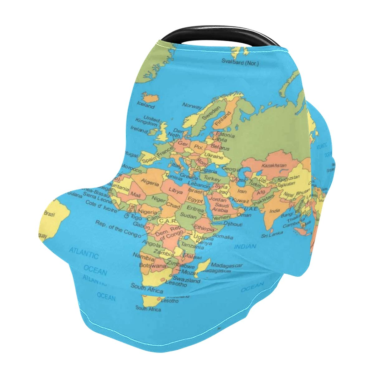 Nursing Cover Breastfeeding Scarf World-Map - Baby Car Seat Covers, Infant Stroller Cover, Carseat Canopy for Girls and Boys(801l)