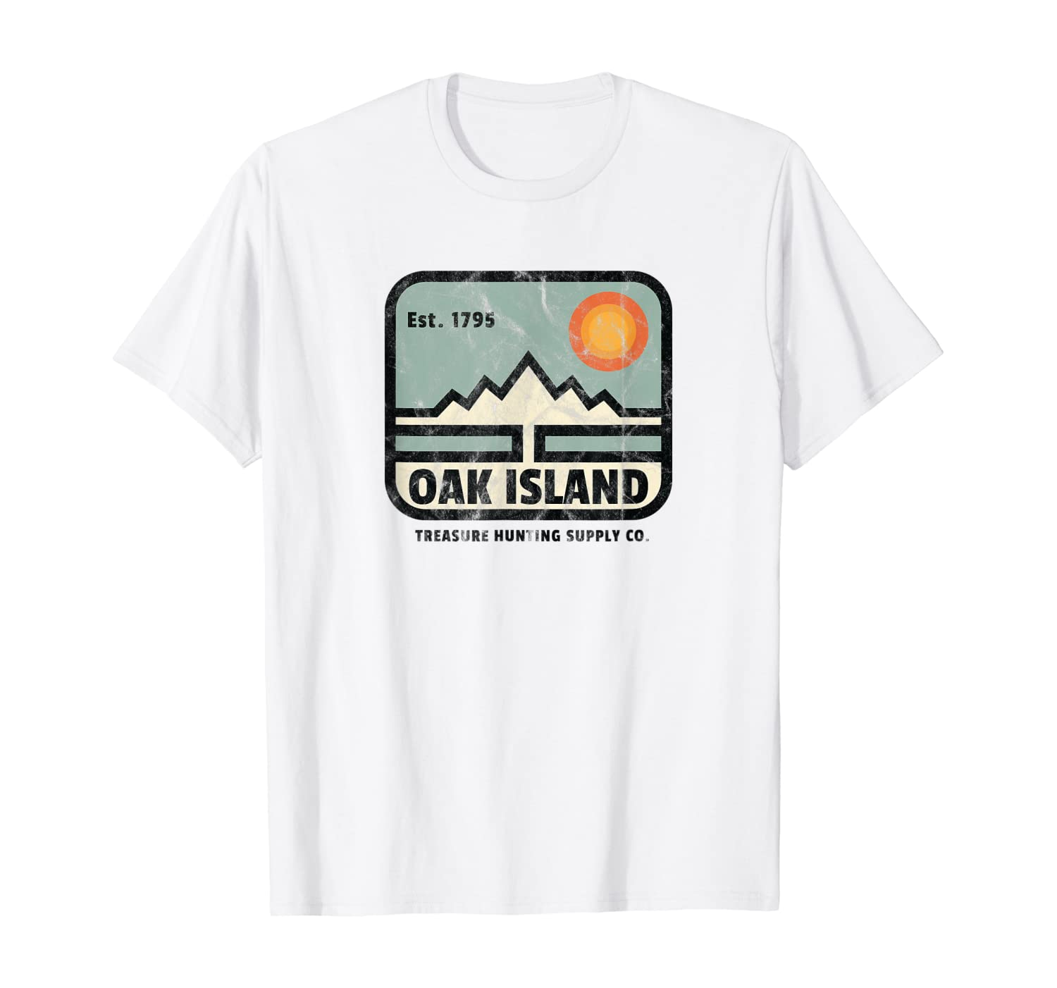 Oak Island Treasure Hunting Supply Vintage 1795 Map Mystery T-Shirt