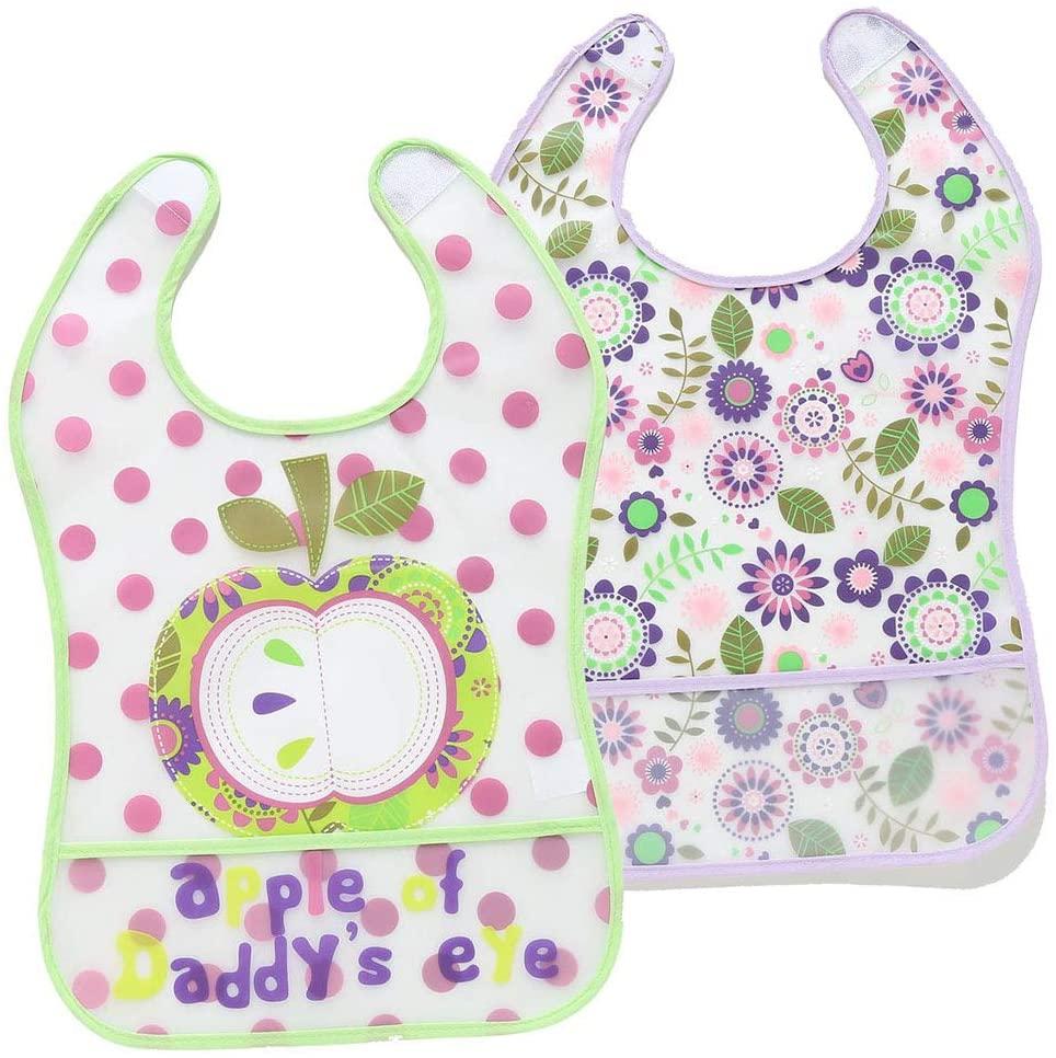 yangyang 2Pcs/Set Baby Newborn Waterproof Bib Infant Toddler Sleeveless Feeding Apron Cartoon Saliva Towel Burp Cloths