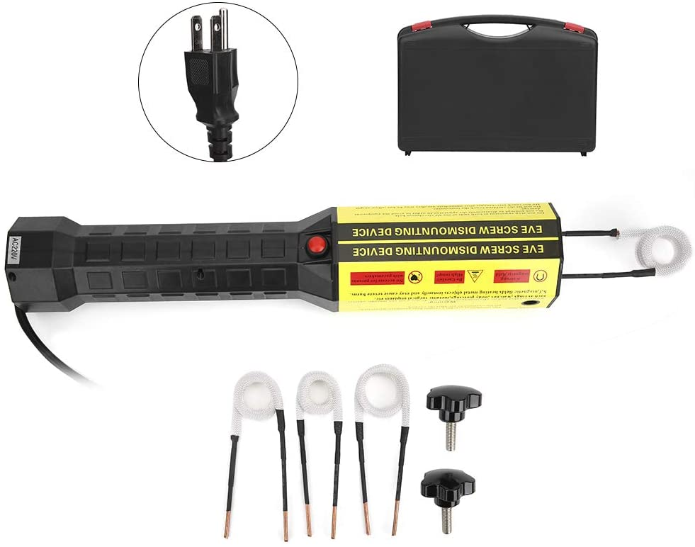 Magnetic Induction Heater Kit,Hand‑Held Electromagnetic Induction Heater 1200W Flameless Rusty Screw Bolts Heating Removel Tool Automotive Flameless Heat Tool (US 110V)