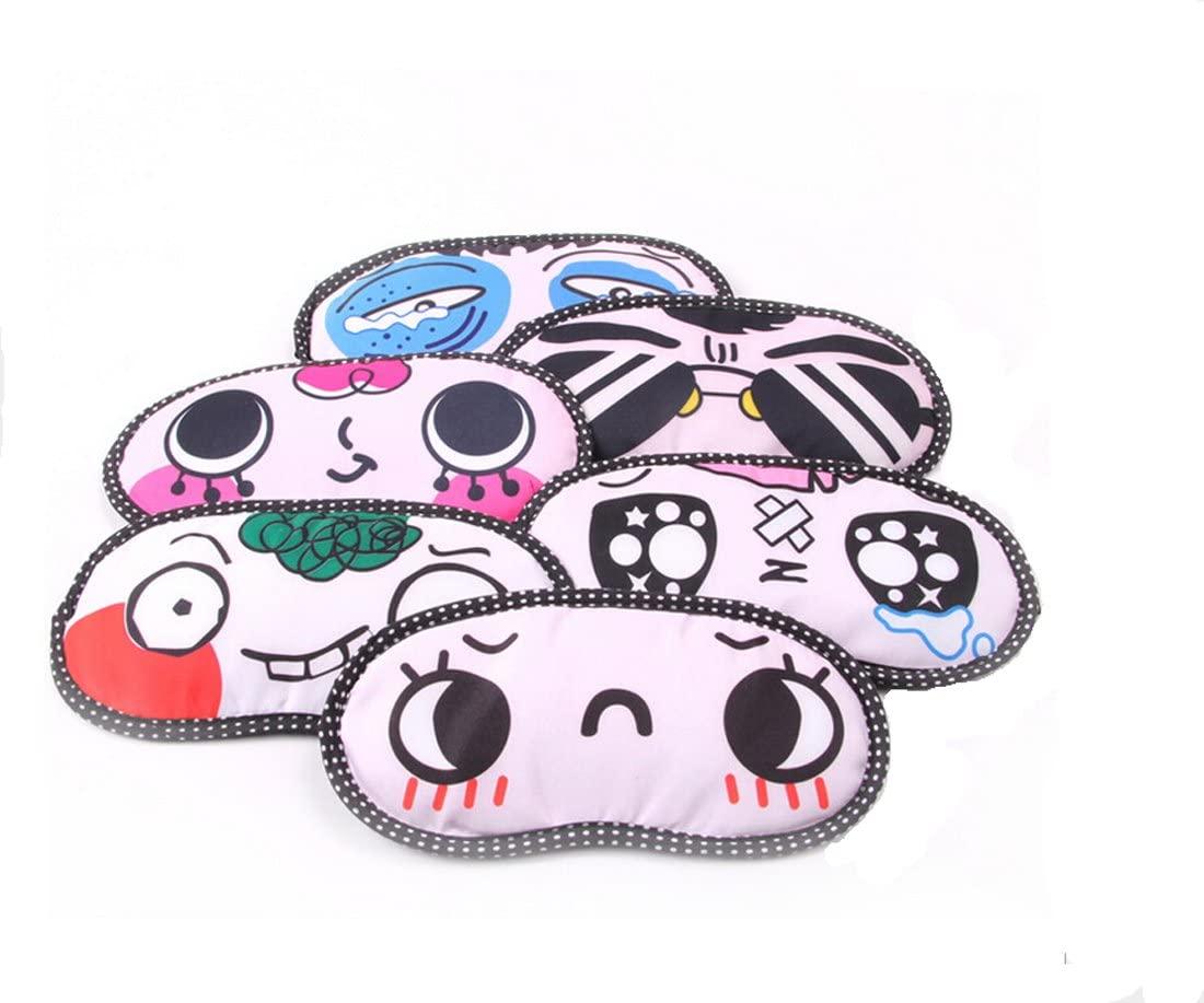 Ewanda store 4 Pcs Cute Cartoon Funny Novelty Sleeping Eye Mask Cover Travel Shades Blindfold Eye Mask