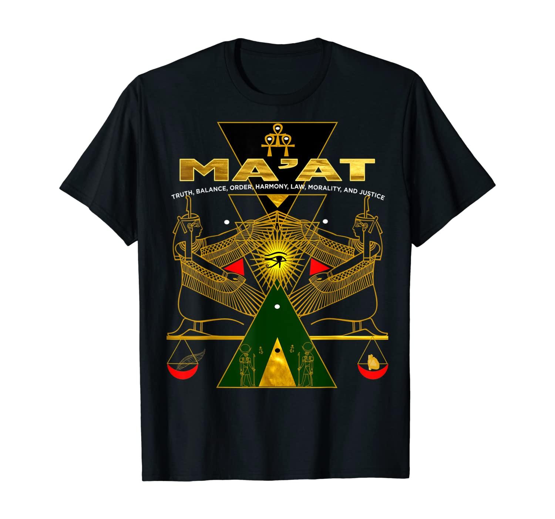 Ancient Egyptian Sacred kemetic Geometry Goddess MAAT Gift T-Shirt