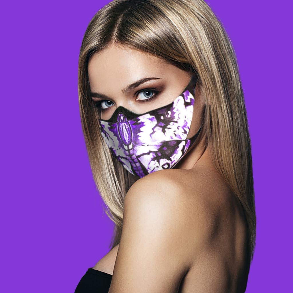 Butterfly Face_Mask for Women, Butterfly Print Novelty Fashion Design Face_Cover Comfort Cotton Cloth Breathable Washable Reusable Face Decoration