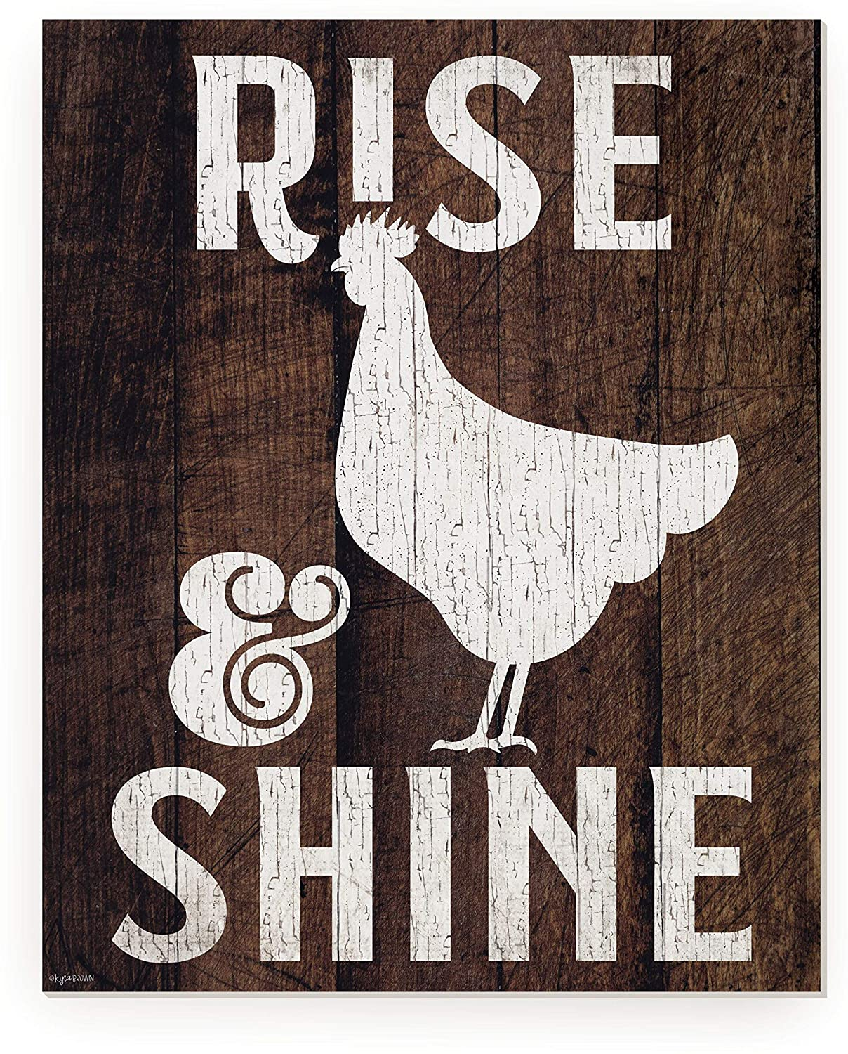 Rise and Shine Rustic Wood Wall Sign 12x15 (Unframed)