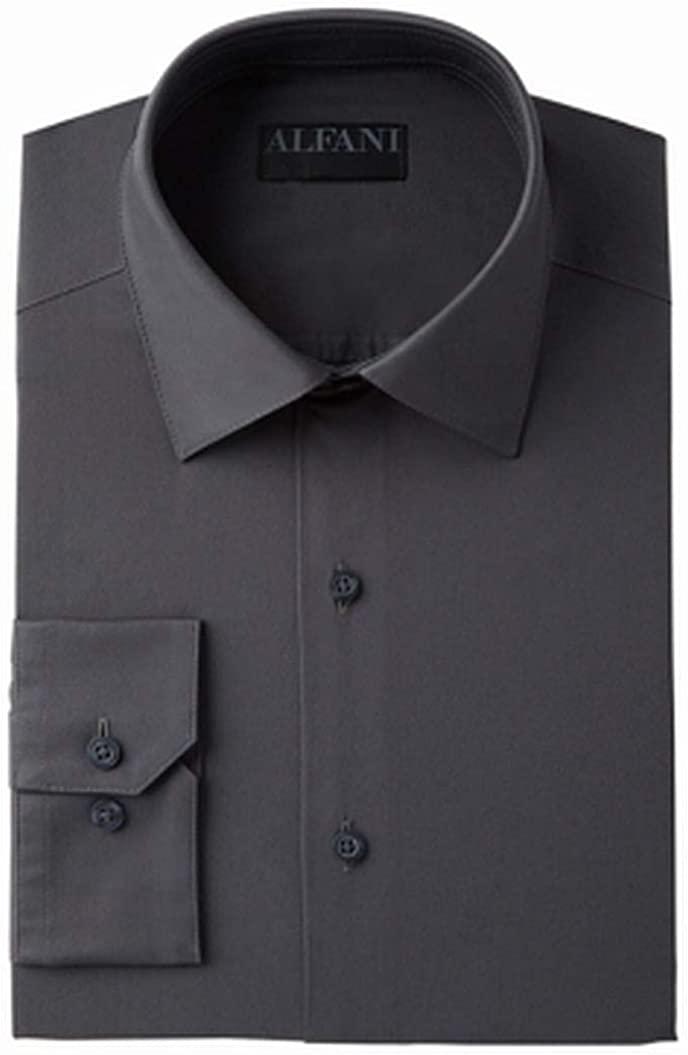 Alfani Mens Alfatech Button Up Dress Shirt