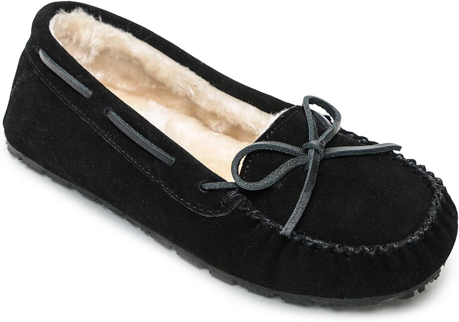 Sperry Women's Junior Trapper Lace-Up Slippers, Black, 10 M US