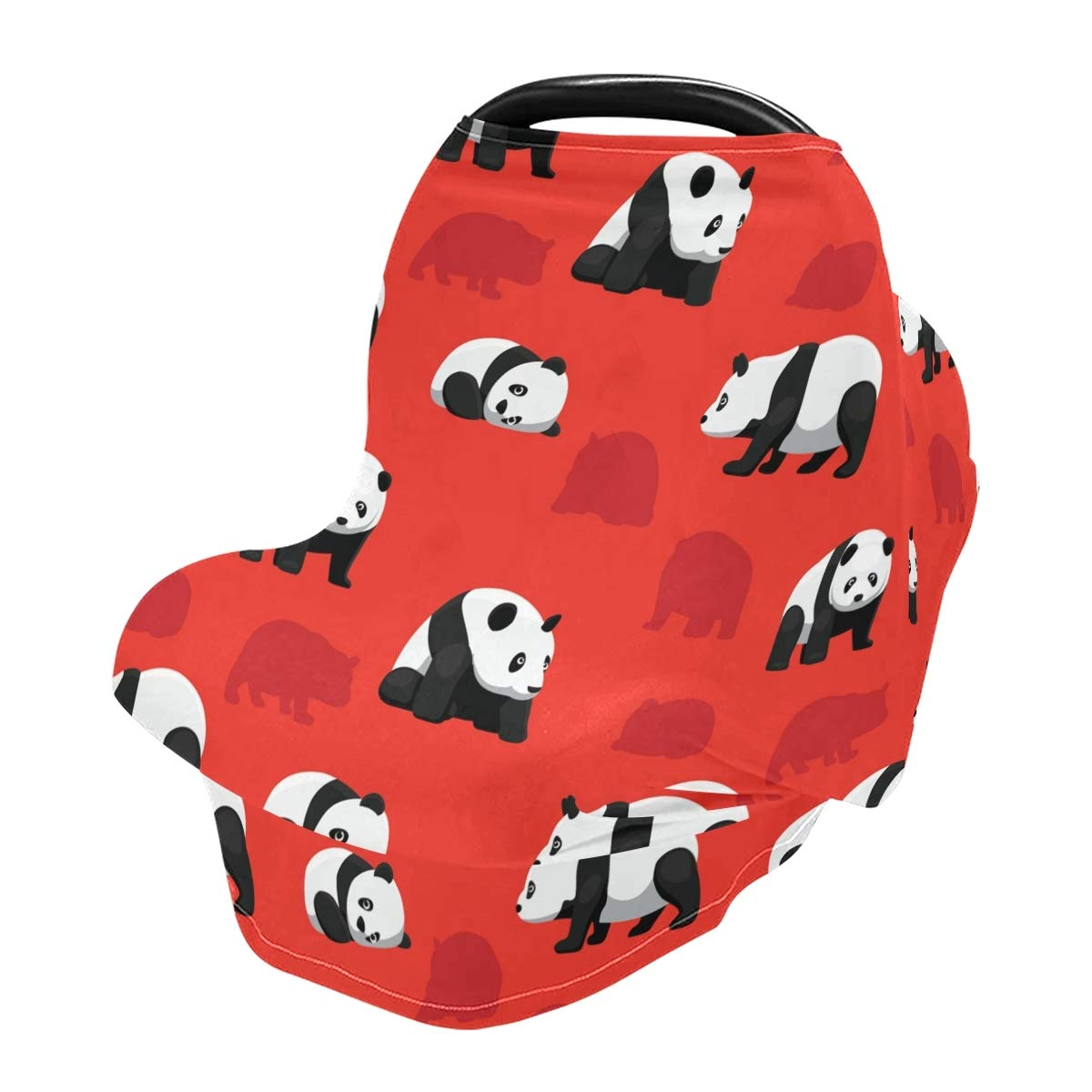 Nursing Cover Breastfeeding Scarf, Bear Panda Car Seat Covers for Babies Infant Stretchy Soft Breathable Multi-Use Cover Ups,Gift for Boys Girls