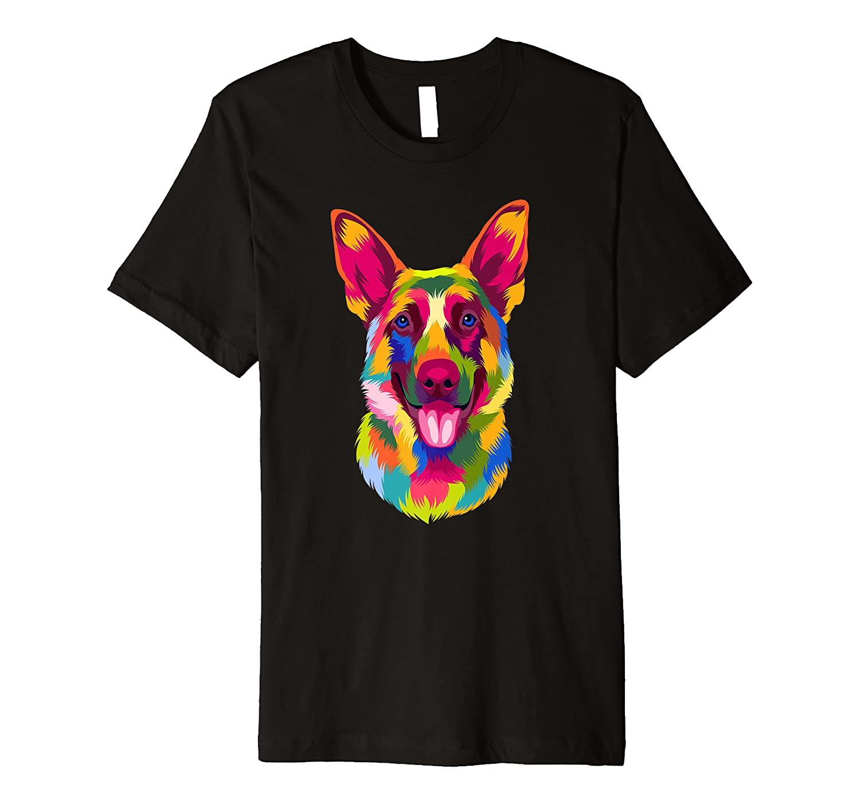 Pop Art German Shepherd Doggie Gift Men Women Pet Dog Lover Premium T-Shirt