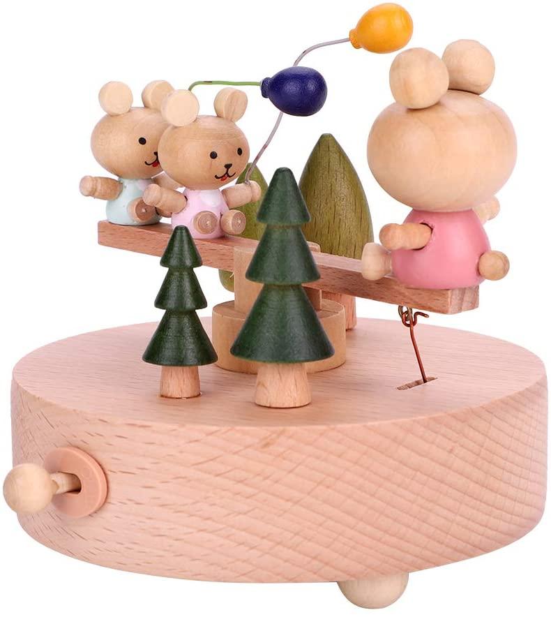 Sanpyl Musical Box, Vintage Wooden Music Box, Home Office Decoration Birthday Gift (Wooden)