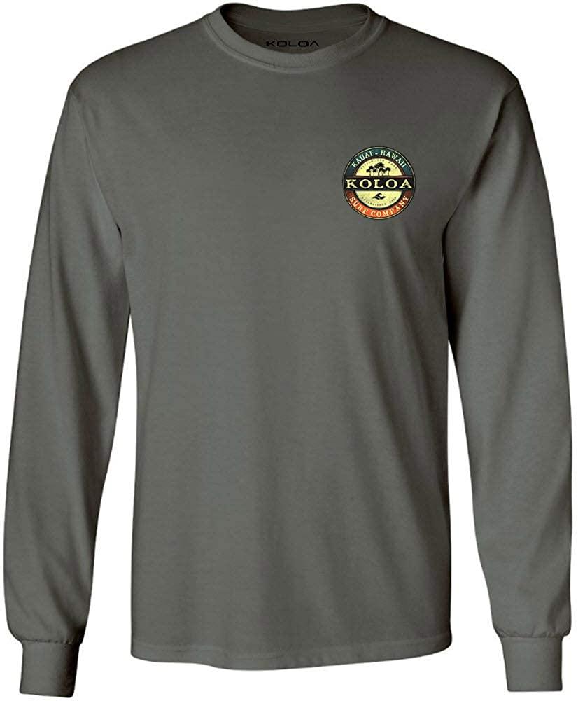 Koloa Surf Mens ol' Koloa Logo Long Sleeve Cotton Tee in Reg, Big and Tall