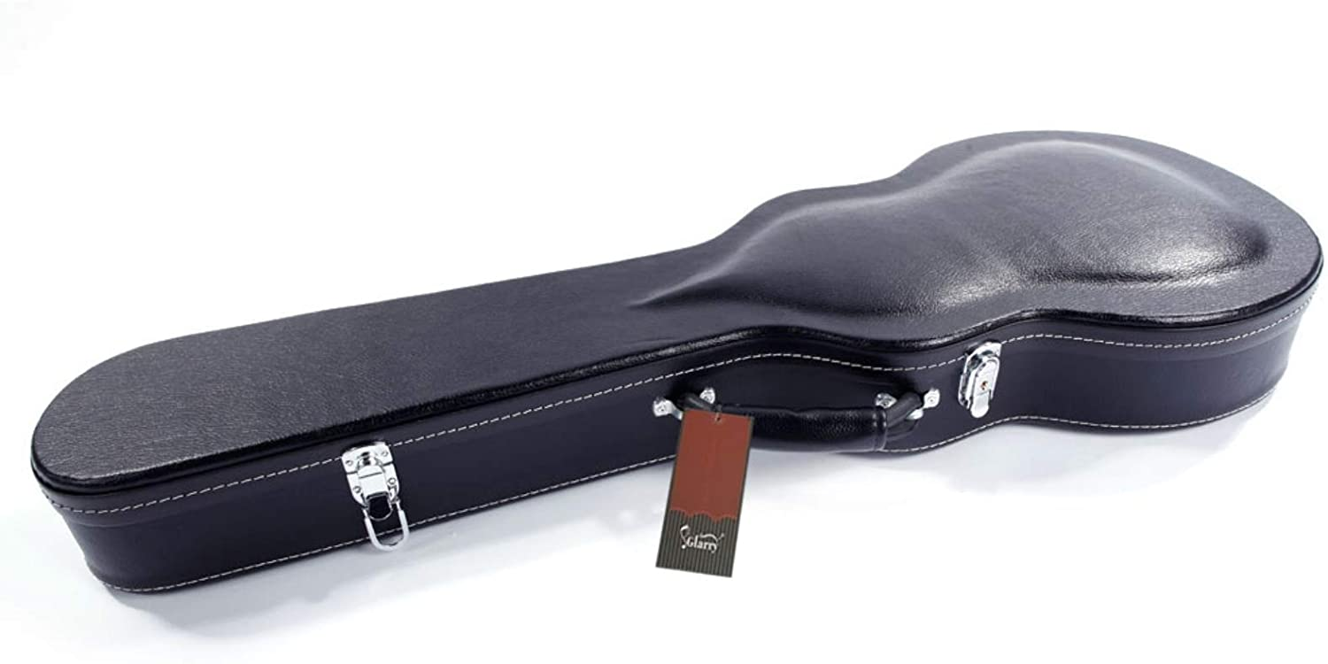 Glarry High Grade Electric Guitar Hard Case Microgroove Bulge Surface Black Durable Guitar Cases Gig Bags, Excellent Gift for Guitarists